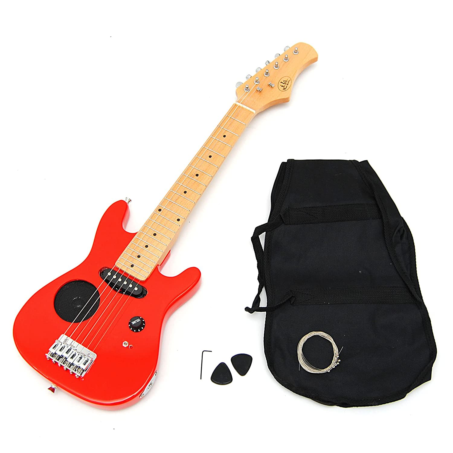 ts ideen 1 4 Kids electric guitar for children in red Speaker Bag