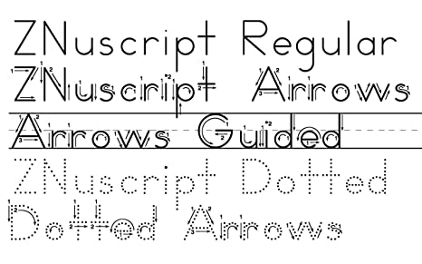Amazon.com: ZMethod 44 fonts for Zaner-Bloser worksheets Windows ...