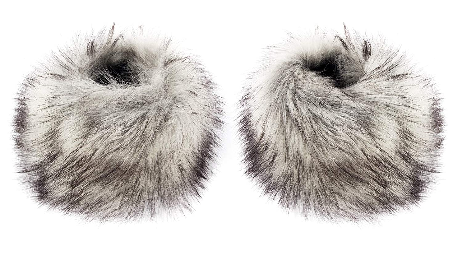 Futrzane Faux Fox Fur Hair Soft Wrist Band Ring Cuff Warmer Futrzane-mankiety-5