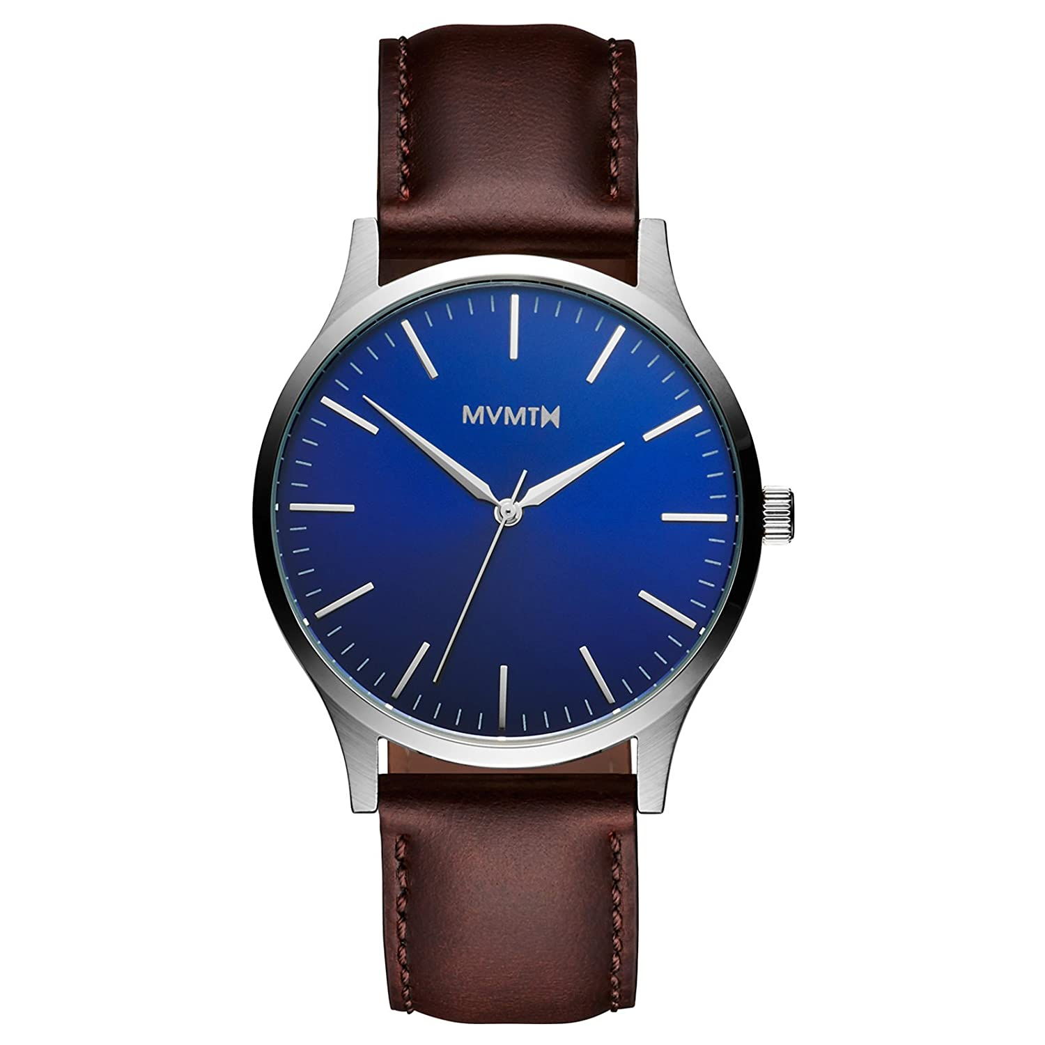 MVMT Watches 40 Series Herren Uhr Blue-Brown Leather MT01BBL