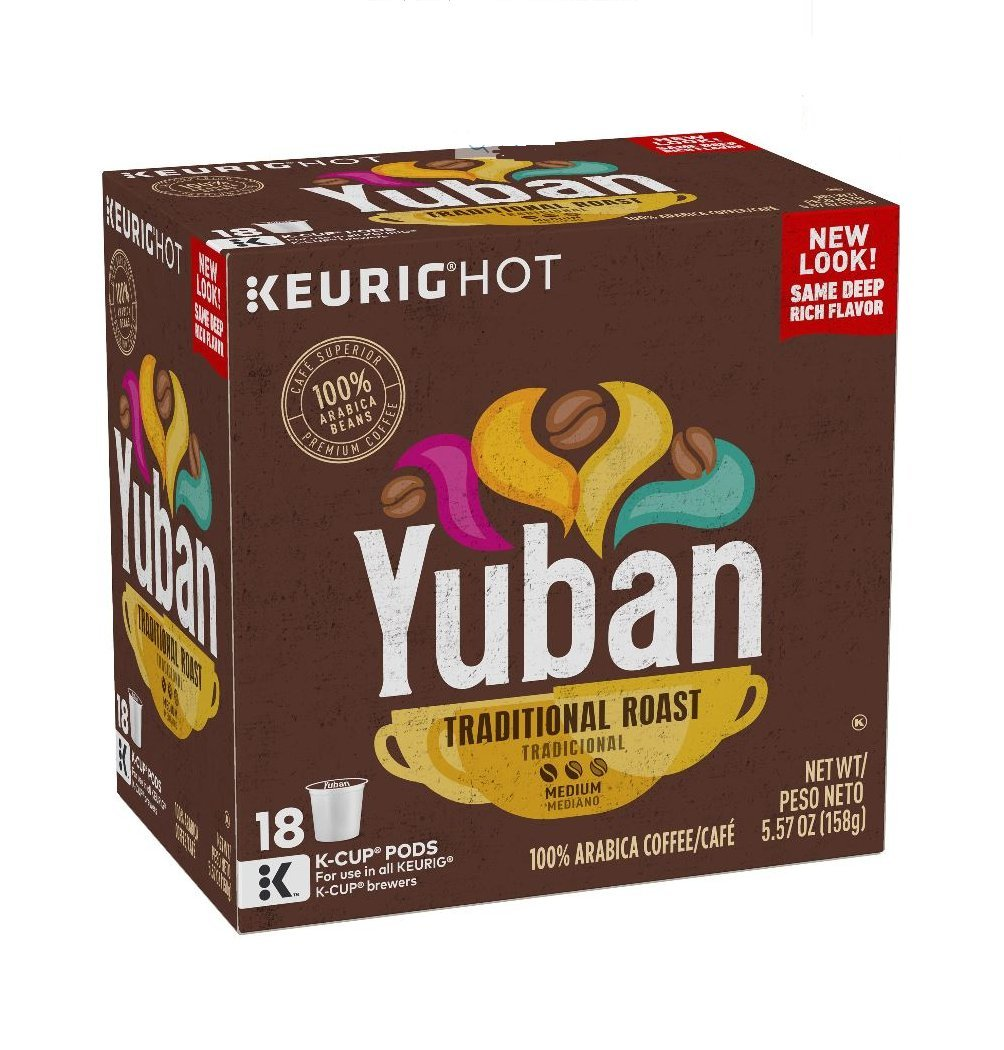 Yuban Colombian Coffee Medium Roast K Cup Pods 18 Count