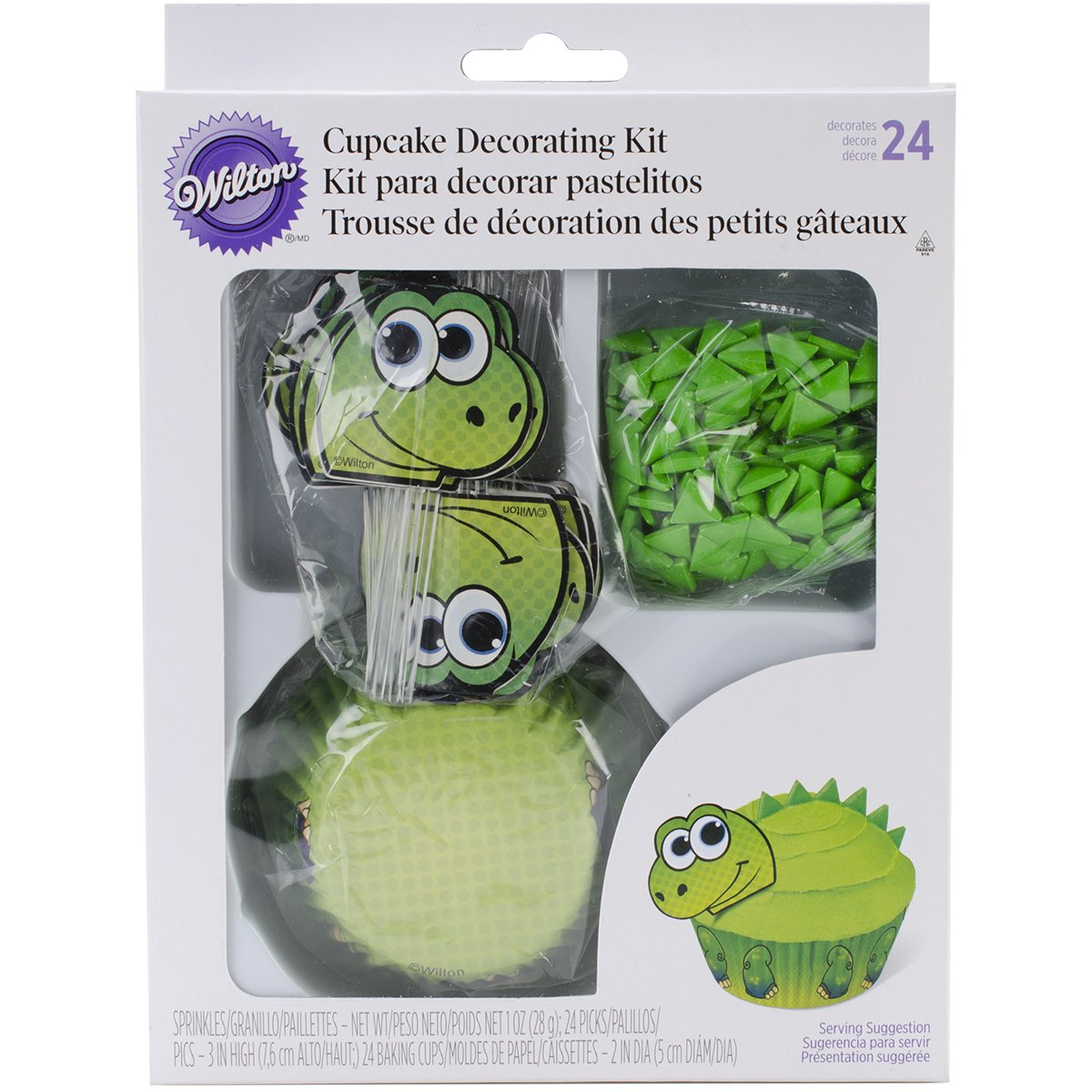 Amazoncom Wilton 4150760 Dino Cupcake Decorating Kit Kitchen