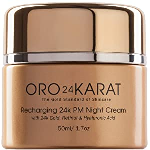 ORO24KARAT Retinol Night Cream with 24k Gold, Anti-Aging Formula with Hyaluronic Acid