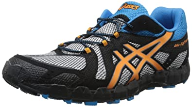 ASICS Men's Gel Fuji Trainer 3 Trail Running Shoe,Aluminum/Marigold/Methyl  Blue
