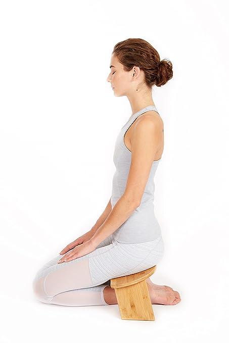 Amazon.com: Banco de meditación plegable (bambú: Kitchen ...