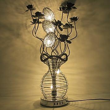 Lampe Décoration Floral De Sungle® Grosse Led Table Fleursblanc Ibg7Yvf6ym