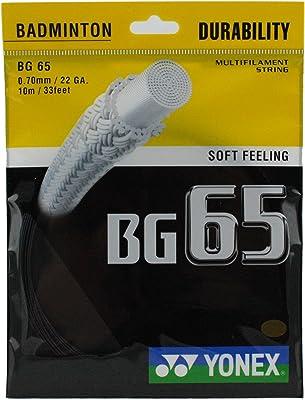 Yonex BG65— Soft feeling badminton string for precision hitting