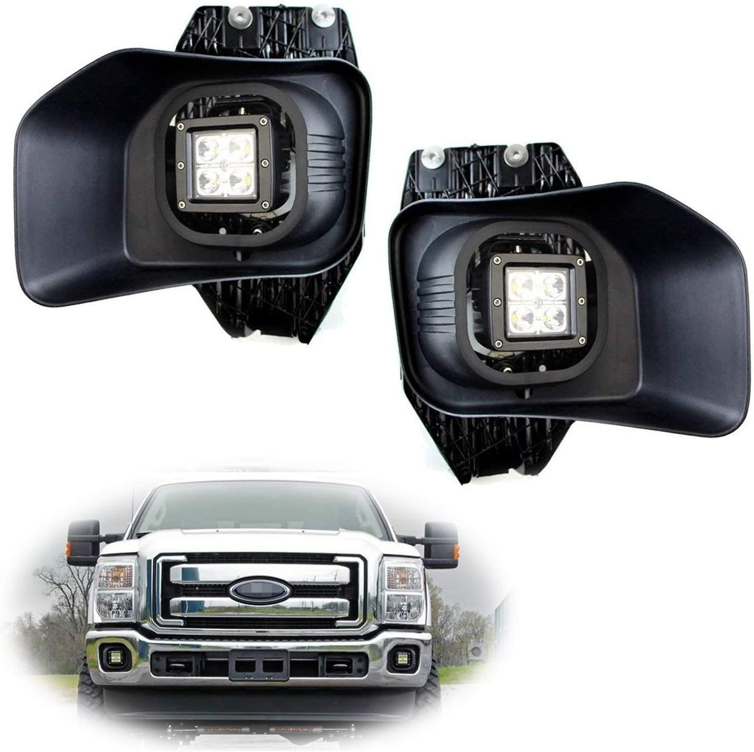 ford f350 headlight switch wiring amazon com ijdmtoy led pod light fog lamps compatible with 2011  ijdmtoy led pod light fog lamps