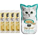 "Kit-Cat Purr Puree Tuna & Fiber""Hairball"" Wet Cat Treat Tubes 4x15g"