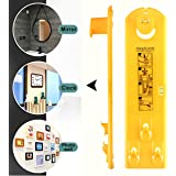 Picture Hanging Tools, Picture Hanger Vertical and Horizontal Levels Frame Hanging Tool, Picture Ruler, Easy Frame Tool for Marking Position and Measuring the Suspension and Horizontal Wall of Roof