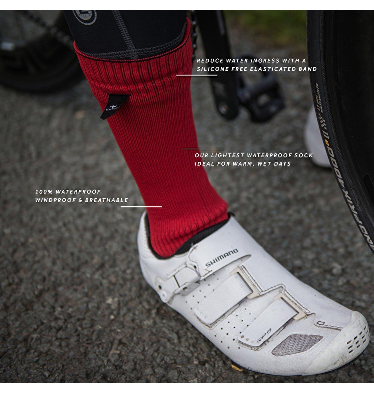 Sealskinz 100% Impermeable Calcetín - Resistente Al Viento & Transpirable - Altura Media Calcetín, Agua Barrera en Puño, Adecuado para Ciclismo, ...
