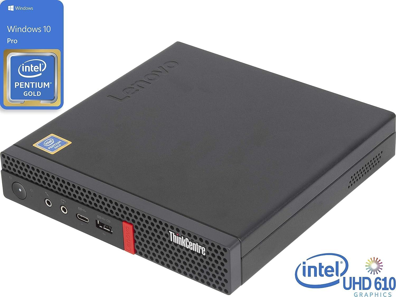 Lenovo ThinkCentre M720q Mini PC, Intel Pentium Gold G5400T 3.1GHz, 16GB RAM, 256GB NVMe SSD + 500GB HDD, HDMI, DisplayPort, Wi-Fi, Bluetooth, Windows 10 Pro
