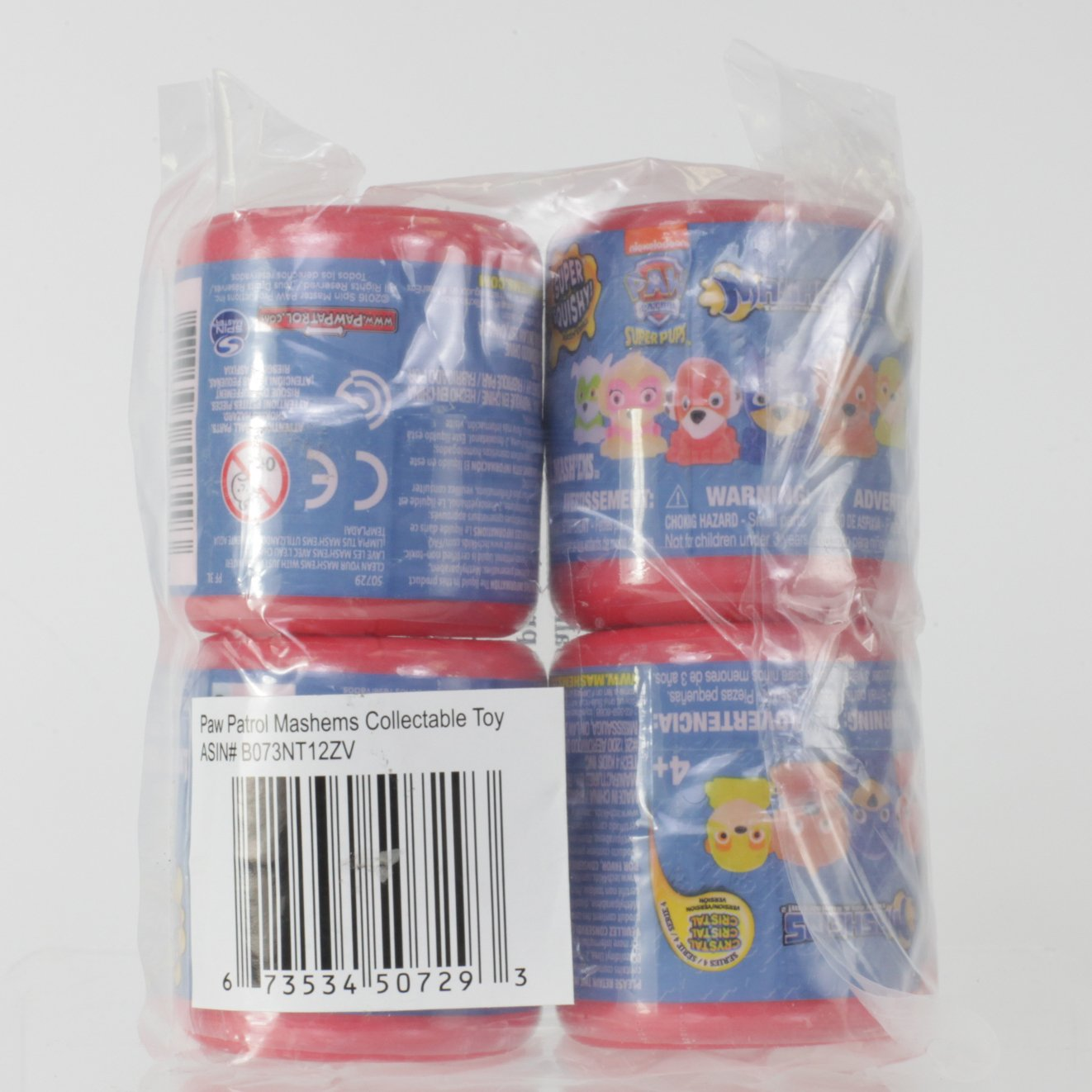 Mash'Ems - Paw Patrol 4 Pack (4 Blind Capsules Per Order) Squishy Collectible Toy by Basic Fun (Image #3)
