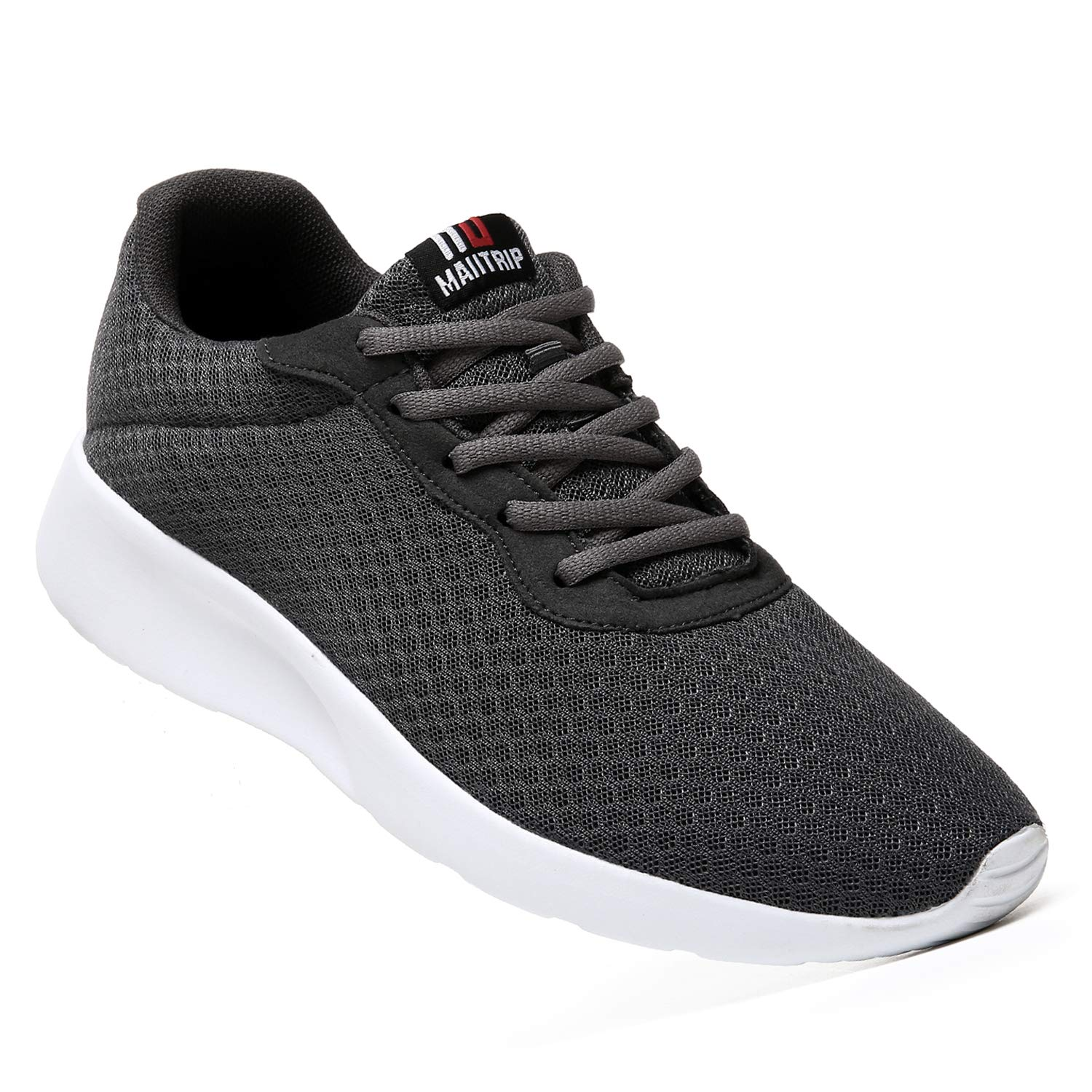 MAITRIP Mens Gym Shoes,Athletic Running Shoes,Lightweight Breathable Mesh Casual Tennis Sports Workout Walking Sneakers,Charcoal Grey Gray,Size 7