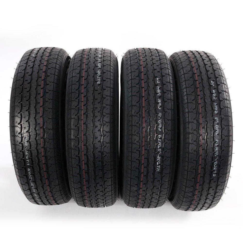 Set of 4 ST205/75R14 Radial Trailer Tires 6 Ply Load Range C 205 75 14 by Roadstar (Image #3)