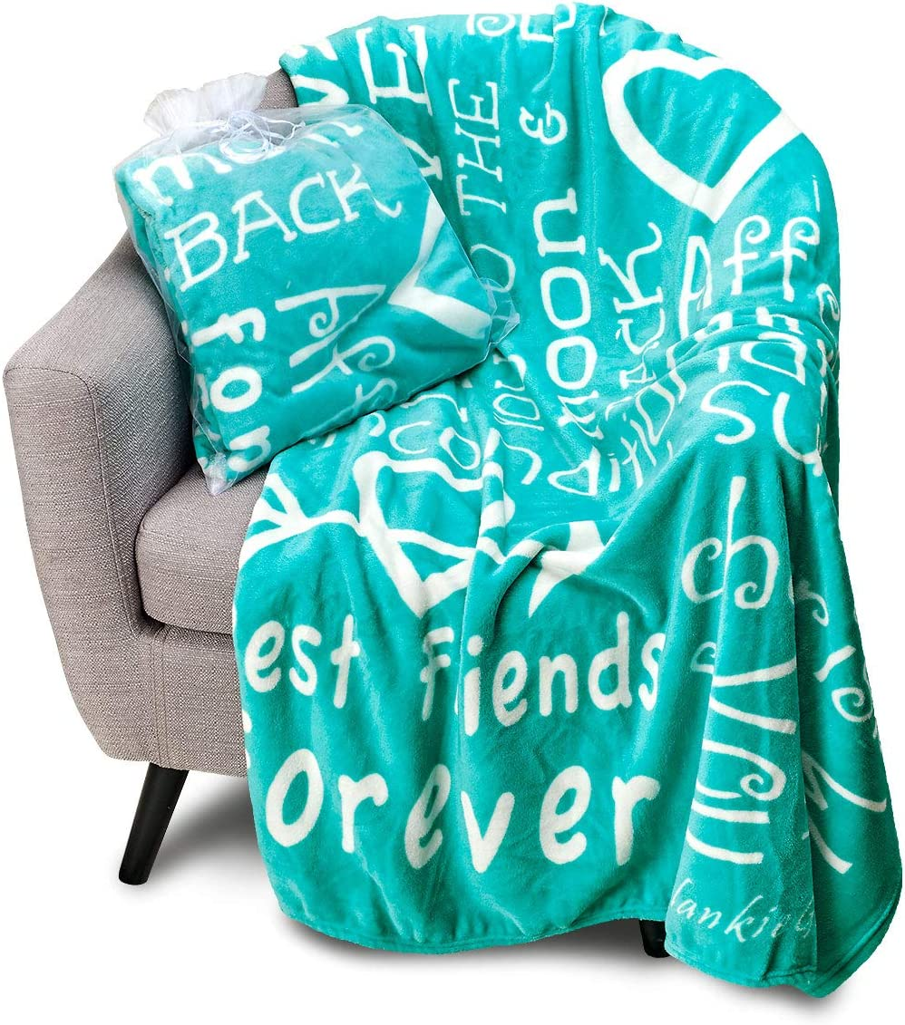 Blankiegram I Love You Throw Blanket The Perfect Caring Gift For Best Friends Couples Family Teal Kitchen Dining