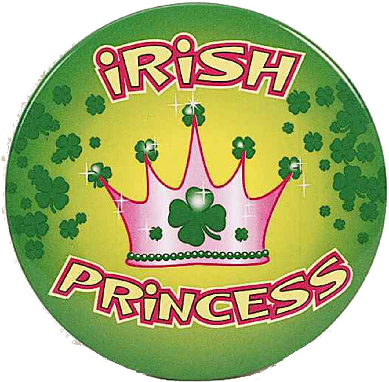 Irish Princess Novelty Button Party Accessory Favor