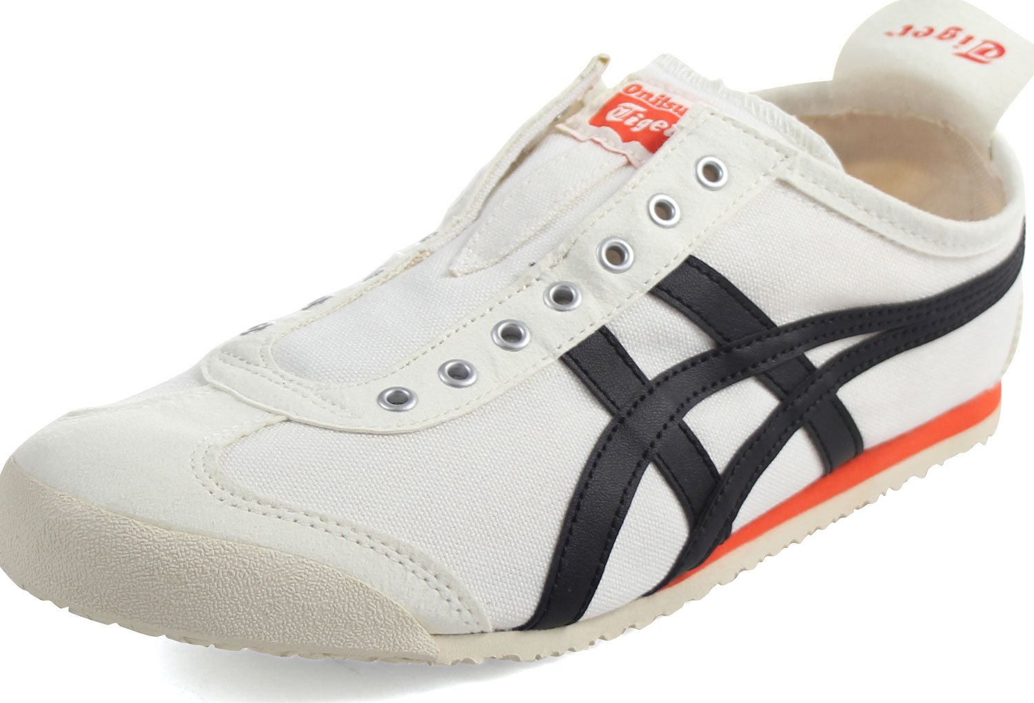 Onitsuka Tiger Mexico 66 Slip-On Classic Running Sneaker B01N2VPU34 9 B(M) US Women / 7.5 D(M) US Men|Cream/Black