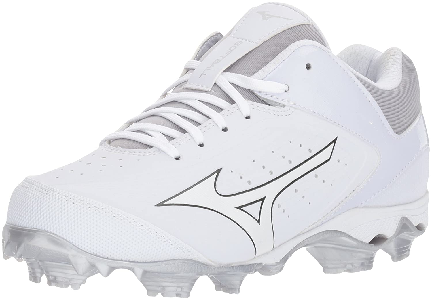 Mizuno (MIZD9) レディース 9-Spike Advanced Finch Elite 3 Womens Fastpitch Softball Cleat B071WKC8M8 8 B US|ホワイト/ホワイト ホワイト/ホワイト 8 B US