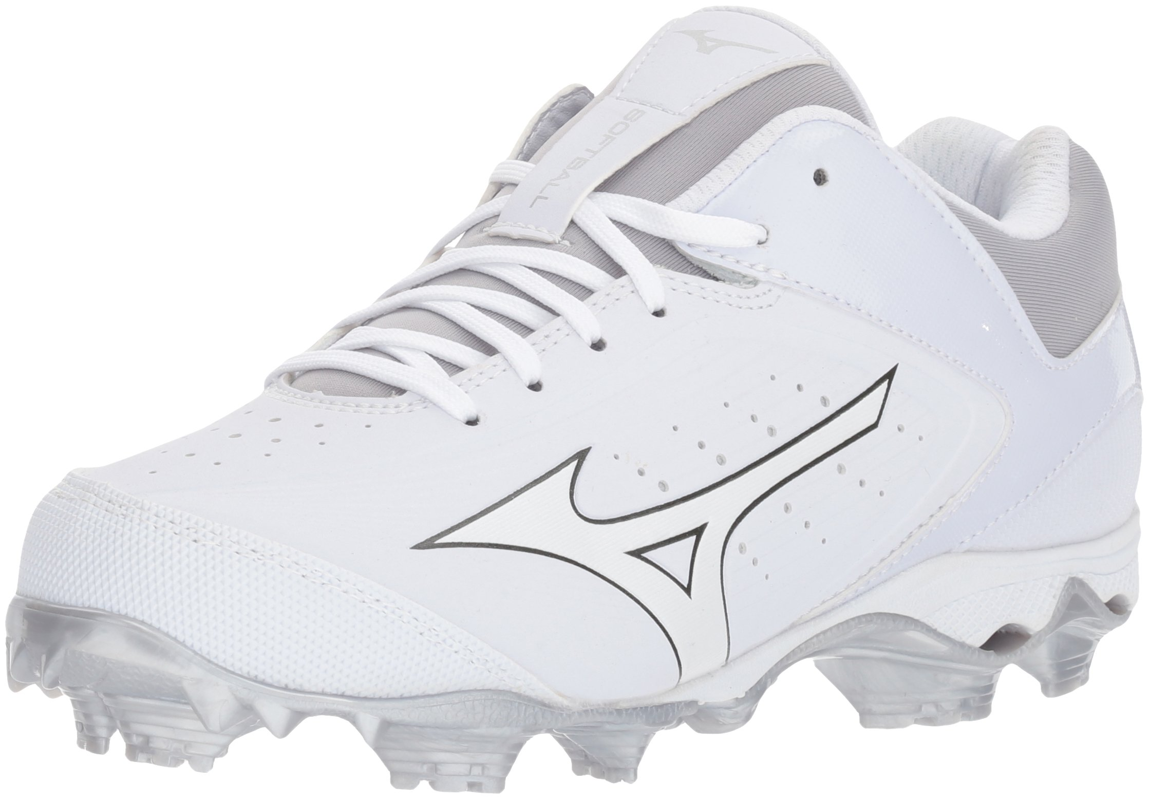 Mizuno Women's 9-Spike Advanced Finch Elite 3 Fastpitch Cleat Softball Shoe, White/White, 7.5 B US by Mizuno
