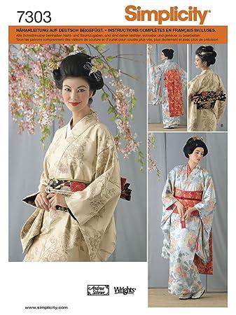 Simplicity Schnittmuster 7303 RR Damen Kostüm Kimono Gr. 40-46 ...