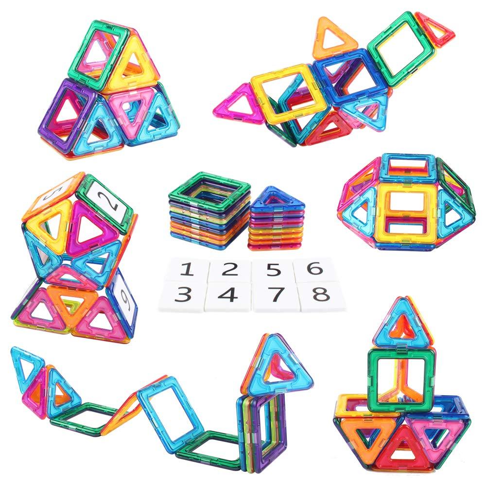 AMOSTING Magnetic Building Blocks Present Package Toy Tiles Bricks Kit by AMOSTING