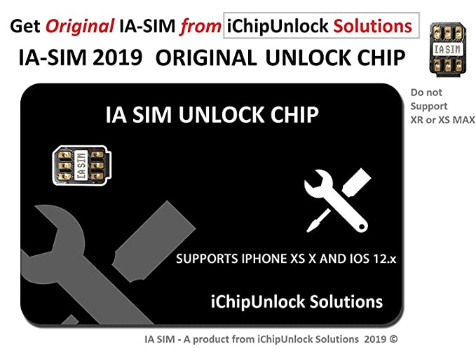IA SIM 2019 Unlock CHIP Compatible with iPhone 5 - XS, Unlock AT&T,  Verizon, Sprint, T-Mobile, Xfinity, Metro PCS, Boost, Cricket to Any World  GSM