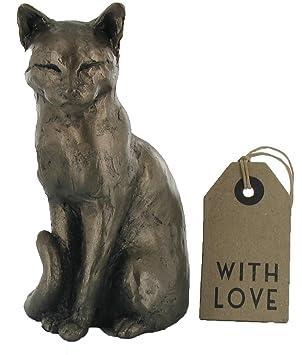 Frith escultura de - Willard de gato - Figura decorativa de gato - incluye texto en inglés: Amazon.es: Hogar