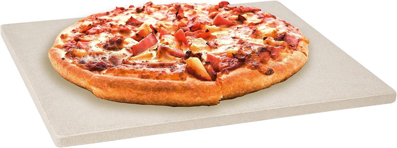 Levivo Piedra para pizza/piedra de horno de cordierita resistente al calor, apta para la barbacoa y el horno, refractaria con poros para absorber la humedad