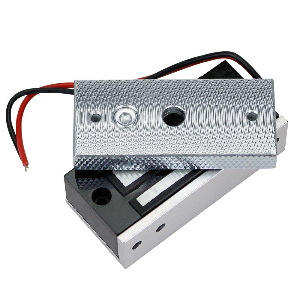 60KG//132lbs Electromagnetic Lock Control de Acceso Cerradura Magn/ética Electr/ónica DC12V Fail Safe NC Mini Puerta Peque/ña para Sistema de Seguridad El/éctrico