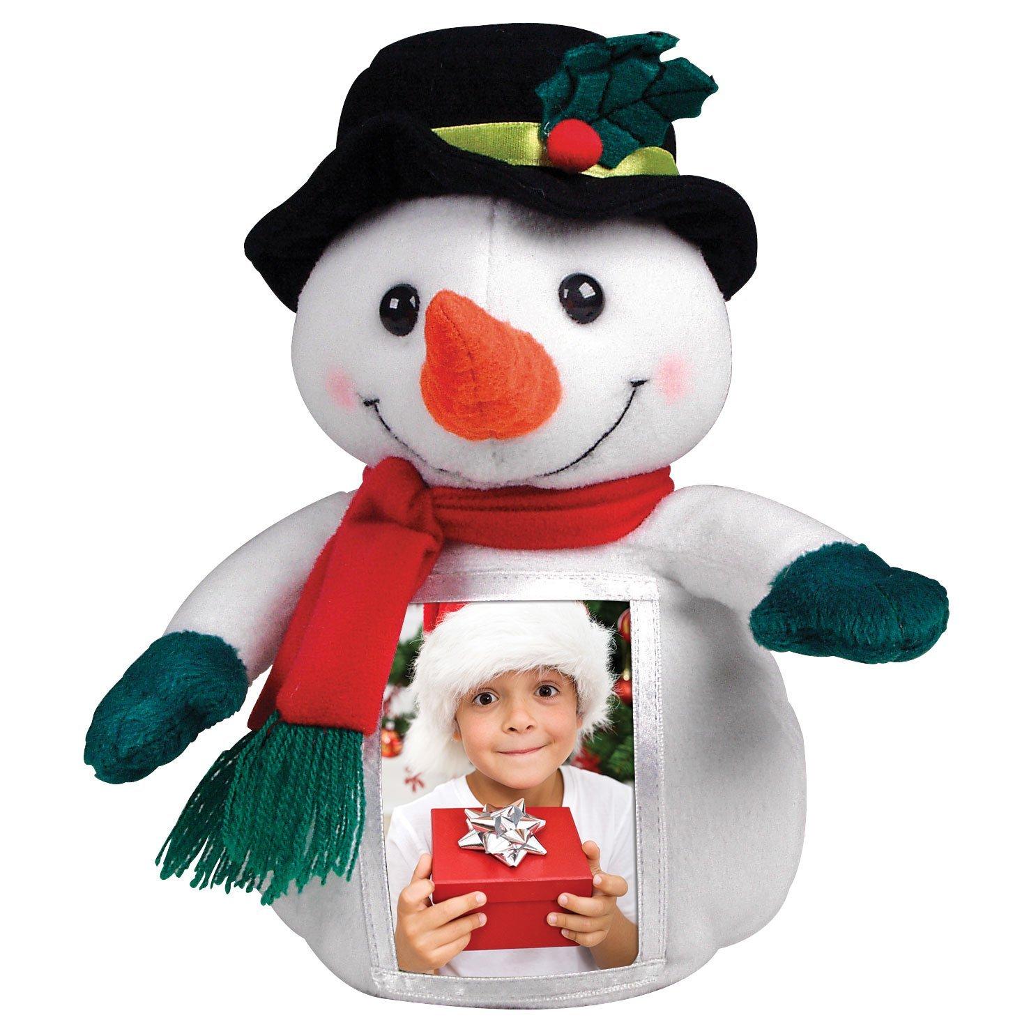 Snowman Plush Picture Frame