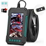 1080P Dual-Lens Endoscope Camera, Borescope Inspection Camera with 4.3in LCD Color Screen, RUMIA Snake Camera with Light…