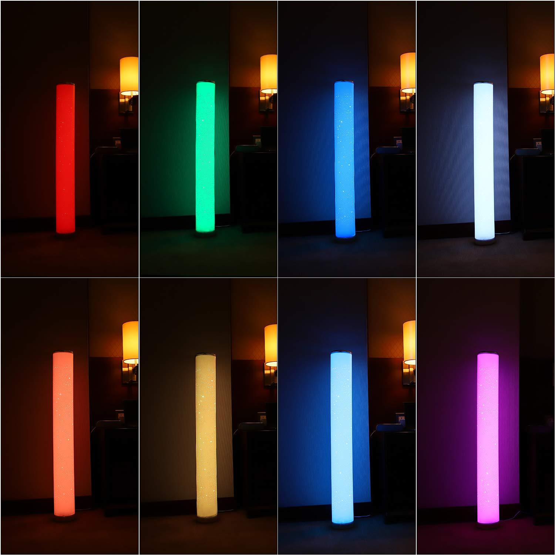 Northpoint LED Stehlampe Lichts/äule Standleuchte Stehleuchte dimmbar Farbwechsel und Musikfunktion mit Fernbedienung