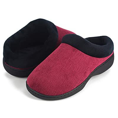 LOVE YANQI Memory Foam Slippers Two-Tone Anti-Skid House Slipper, Comfortable Plush Indoor/Outdoor Shoes Autumn Winter | Slippers