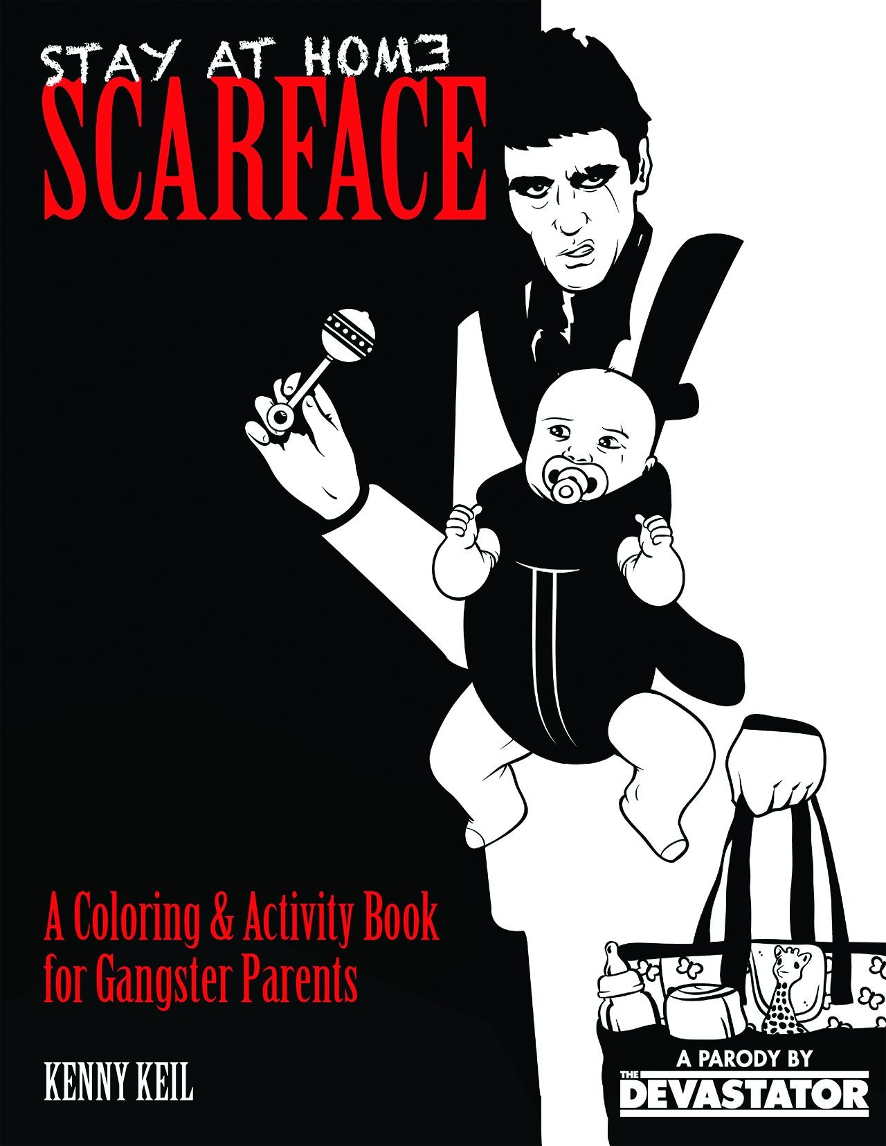 amazon com stay at home scarface a coloring u0026 activity book for