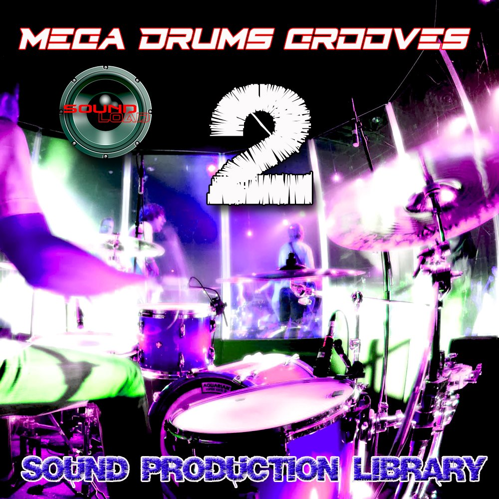 MEGA DRUMS GROOVES 2 - Production Samples Library - Kits/Loops/Performances 8.5GB on 2DVDs/download by SoundLoad