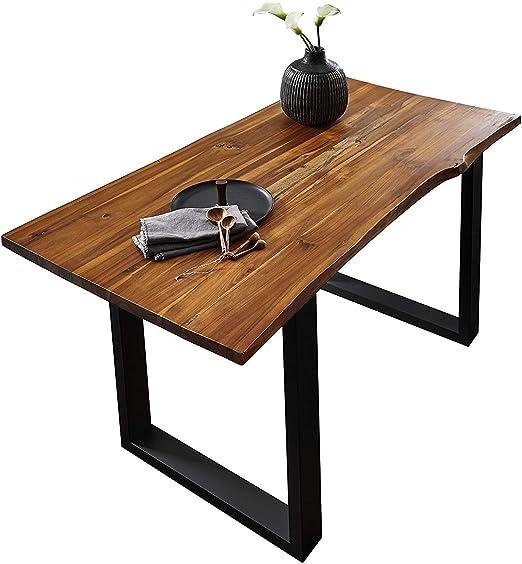 SAM® Elegante Mesa de Comedor IDA 140x80 cm de Madera de Acacia ...