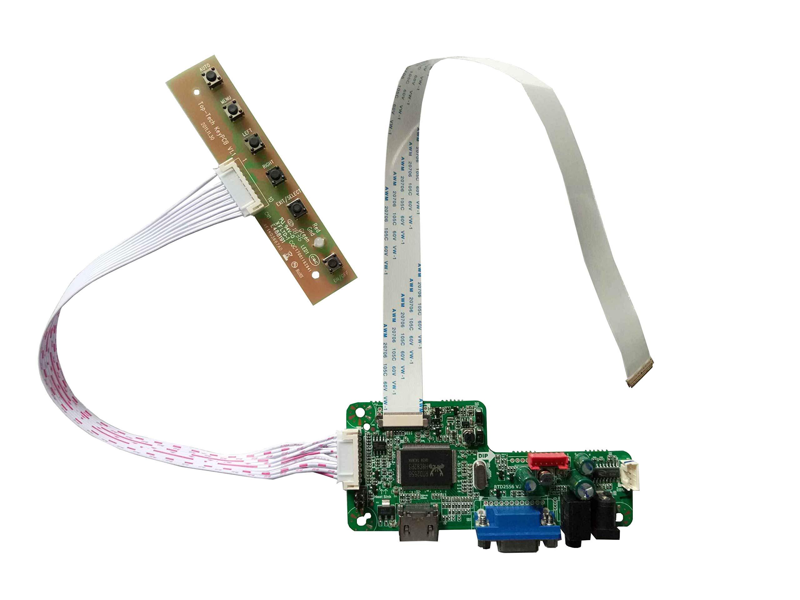 """NJYTouch RTD2556 V3.0 HDMI VGA LCD Controller Board Kit for B140XTN02.1 B140XTN02.4 B140XTN02.6 14"""" 1366x768 eDP LCD Screen"""