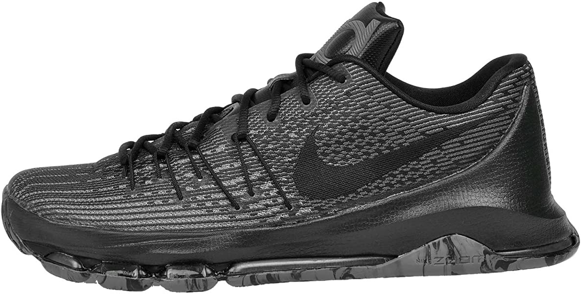 best sneakers 734fe 4e538 Nike Mens Kevin Durant KD 8 VII Blackout Basketball Shoes ...