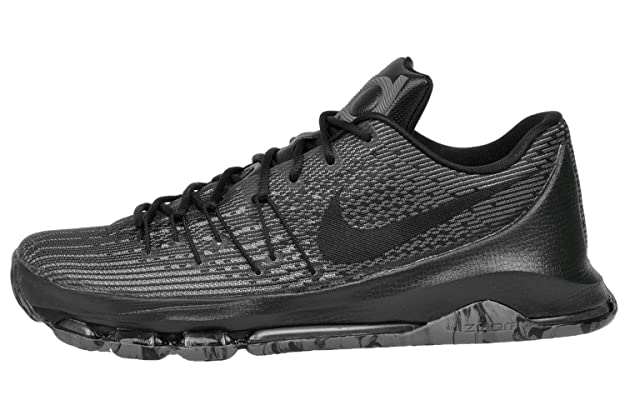 separation shoes d7a78 6bdbc Amazon.com   Nike Mens Kevin Durant KD 8 VII Blackout Basketball Shoes  Black Cool Grey 749375-001 Size 8.5   Basketball