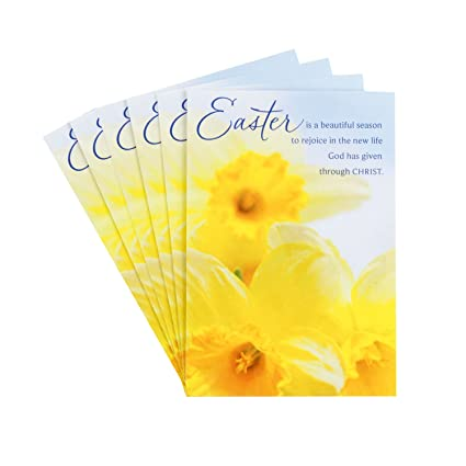 Amazon dayspring religious easter greeting card assortment 6 dayspring religious easter greeting card assortment 6 cards and 6 envelopes daffodils beauty of m4hsunfo