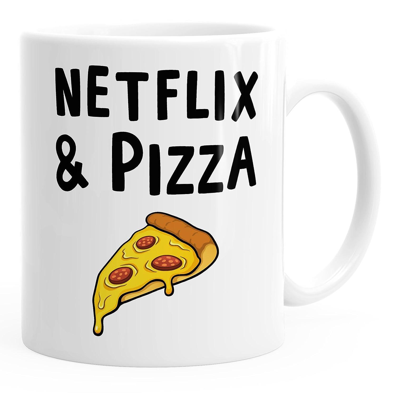 Netflix & Pizza - Uni Weiß
