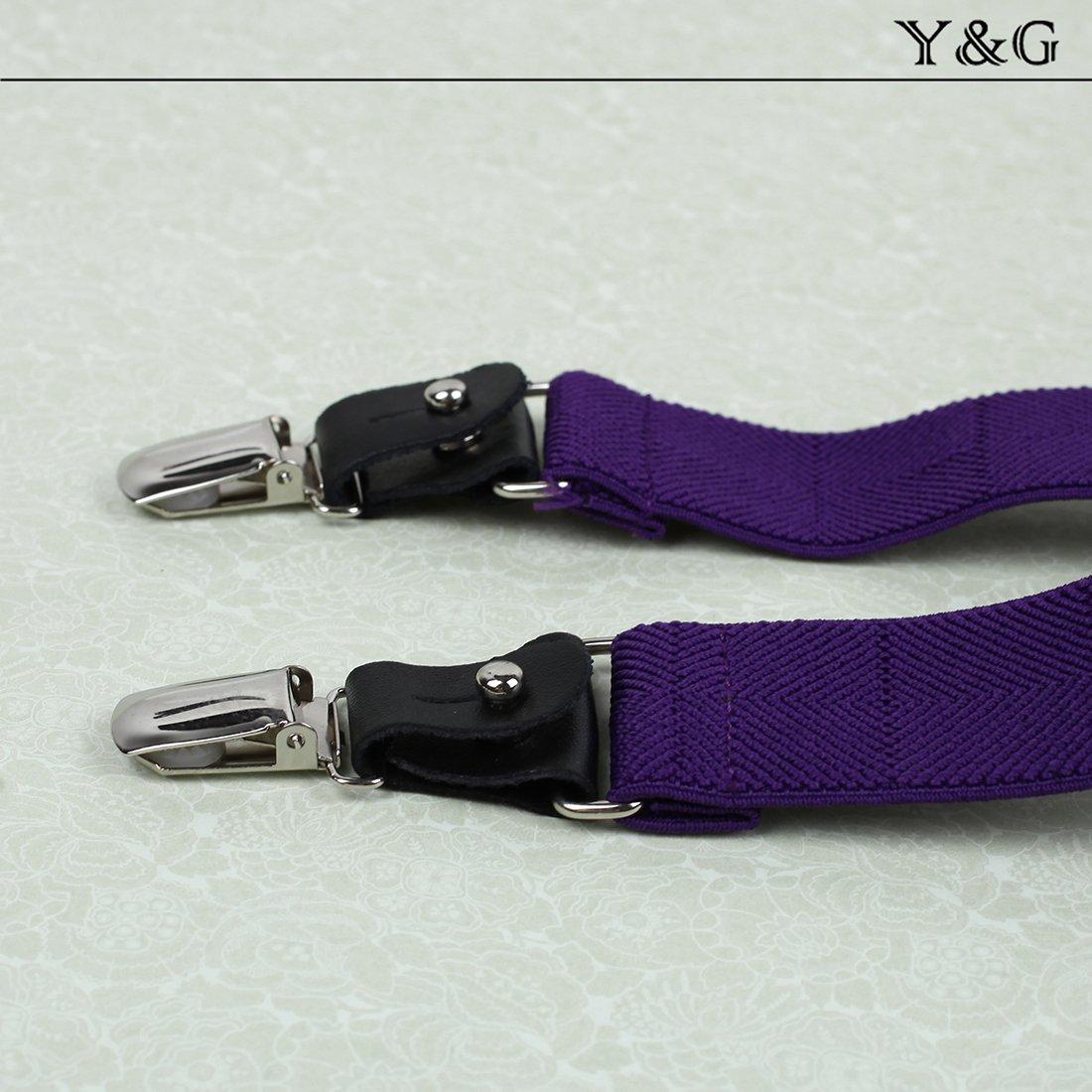 Y/&G Mens Fashion Fashion Multicoloured Suspenders Clip-end Brace Y-back SP2023