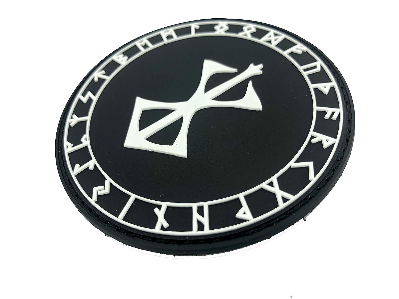 Berserker Marke des Opfers R/üstung Viking Wikingers PVC Airsoft Paintball Klett Emblem Abzeichen Patch