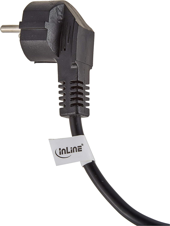 Inline 16653b Netz Y Kabel 1x Schutzkontaktstecker Zu Computer Zubehör