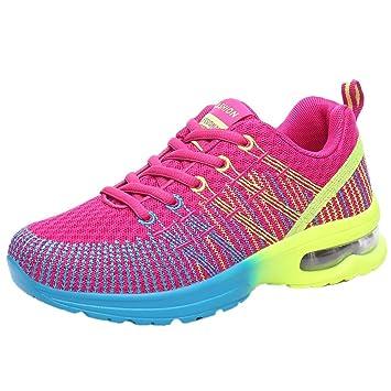 Zapatos multicolor deportes con correa,Sonnena mujer Zapatos cómodos respirables de la moda de las mujeres Zapatillas deportivas deportivas Zapatillas de ...