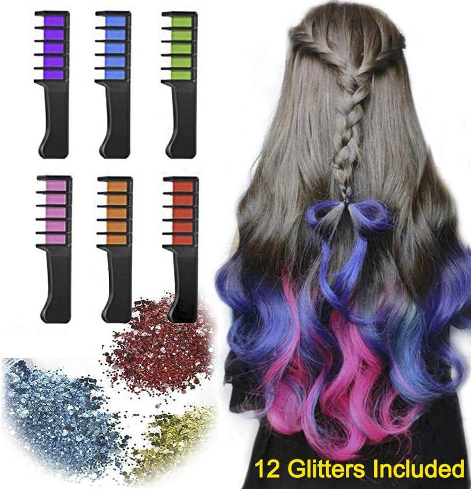 Peines para el cabello, kit de peine de tiza para el color del ...