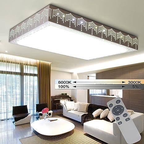 WYBAN Lámparas de techo de la sala de estar 48W Regulable ...