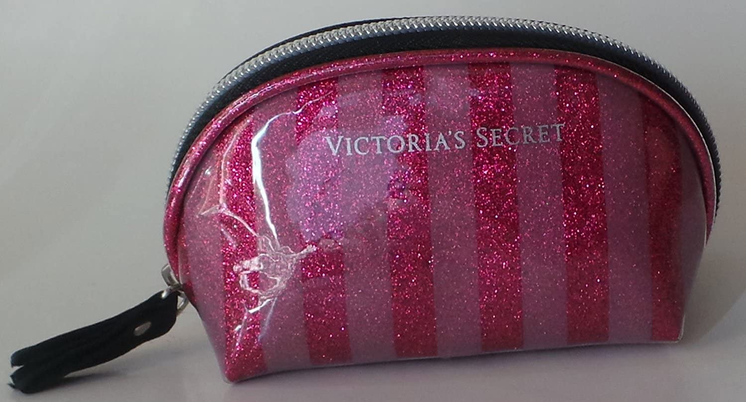Victorias Secret Coin Purse Cosmetic Bag for Very Small Items Pink Striped Size 4.5 x 2.5 by Victorias Secret: Amazon.es: Belleza