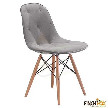 Finch Fox Dining Cushioned Chair (Grey)